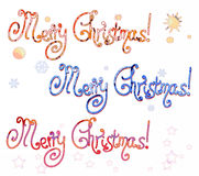 Inscrição do Feliz Natal Imagem de Stock Royalty Free