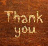 A inscrição do giz agradece-lhe Imagem de Stock Royalty Free