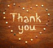 A inscrição do giz agradece-lhe Fotografia de Stock Royalty Free