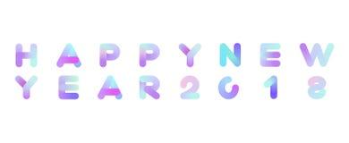 Inscrição do vetor do ano novo feliz 2018 Cartão do Xmas ilustração royalty free