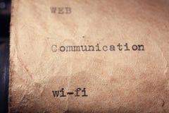 Inscrição do vintage feita pela máquina de escrever Imagem de Stock