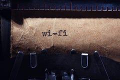 Inscrição do vintage feita pela máquina de escrever Fotografia de Stock