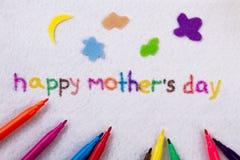 Inscrição feliz do dia do ` s da mãe Imagem de Stock Royalty Free