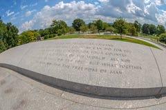Inscrição gravadas no cemitério nacional de Arlington foto de stock royalty free