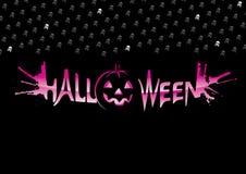 Inscrição Halloween Foto de Stock Royalty Free