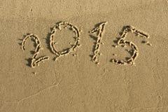 A inscrição na areia 2015 Imagem de Stock Royalty Free