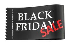 Inscrição na etiqueta da roupa, de Black Friday rendição 3D Imagem de Stock