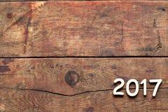Inscrição 2017 na madeira Imagens de Stock Royalty Free