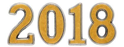 a inscrição 2018, no fundo branco, 3d rende ilustração stock