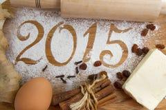 inscrição 2015 no fundo de madeira Foto de Stock Royalty Free