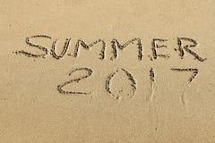 Inscrição no verão 2017 da areia Imagens de Stock