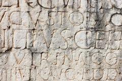 Inscrição romana antiga Fotografia de Stock