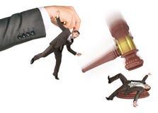 Inscribed gavel hitting businessman Royalty Free Stock Photography