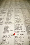 Inscribed Names; The Menin Gate Royalty Free Stock Images