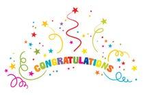 Inscrição - felicitações Fotos de Stock Royalty Free