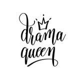 Inscripción blanco y negro de las letras de la mano de la reina del drama libre illustration