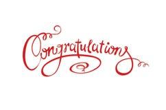 Inscripción caligráfica - enhorabuena