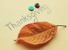 Inscripción de la acción de gracias Imagenes de archivo