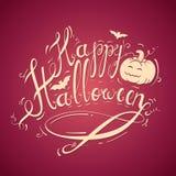 Inscripción de la acción de Halloween en una naranja brillante Fotos de archivo