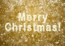 Inscripción de la Feliz Navidad Fotografía de archivo
