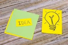 Inscripción de la idea en un cuadrado verde Fotografía de archivo libre de regalías
