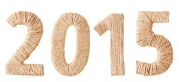 Inscripción 2015 de la materia textil Foto de archivo libre de regalías