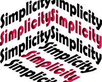 Inscripción de la simplicidad Cita inspirada, motivaci?n Tipografía para la camiseta, invitación, impresión de la camiseta de la  libre illustration