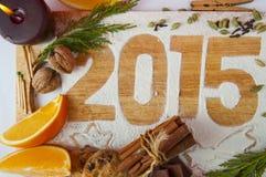 Inscripción decorativa 2015 del registro Imágenes de archivo libres de regalías