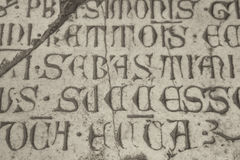 Inscripción del católico del latín medieval Imágenes de archivo libres de regalías