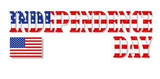 Inscripción del Día de la Independencia Fotografía de archivo libre de regalías