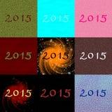Inscripción 2015 del número de los datos Imagenes de archivo