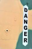 Inscripción del peligro Foto de archivo libre de regalías