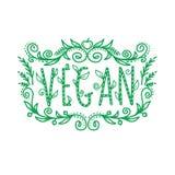 Inscripción del vegano, marco Imagen de archivo