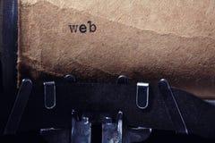 Inscripción del vintage hecha por la máquina de escribir Foto de archivo libre de regalías