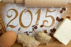 inscripción 2015 en el fondo de madera Imágenes de archivo libres de regalías