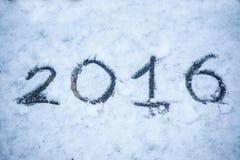Inscripción en la nieve 2016 Foto de archivo