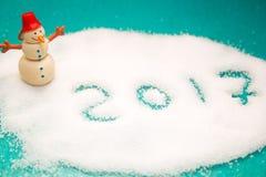 inscripción 2017 en la nieve Imagen de archivo libre de regalías