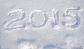 Inscripción 2015 en la nieve para el nuevo sí Foto de archivo libre de regalías
