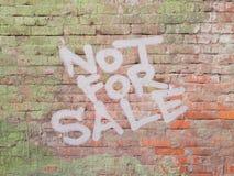 Inscripción en la pared de ladrillo - no para la venta Fotos de archivo
