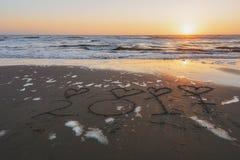 Inscripción 2017 en una playa arenosa Imagen de archivo