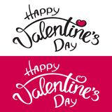 Inscripción feliz del día del ` s de la tarjeta del día de San Valentín Foto de archivo libre de regalías