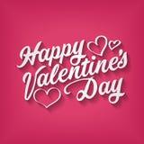 Inscripción feliz del dibujo de la mano del día de tarjetas del día de San Valentín Fotos de archivo