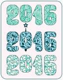Inscripción festiva elegante para el nuevo 2016 Imagen de archivo libre de regalías