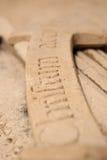 Inscripción gótica fotografía de archivo libre de regalías
