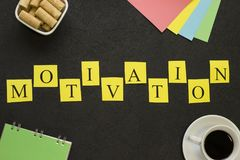 Inscripción horizontal de la motivación Foto de archivo libre de regalías
