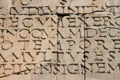 Inscripción latina antigua Fotos de archivo libres de regalías