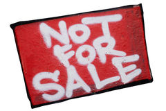 Inscripción no para la venta Imagen de archivo