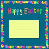 Inscripción Pascua feliz Fotografía de archivo libre de regalías