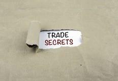 Inscripción reveladora en el papel viejo - SECRETOS COMERCIALES Fotos de archivo libres de regalías