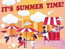 Inscripción su ejemplo del vector del tiempo de verano libre illustration